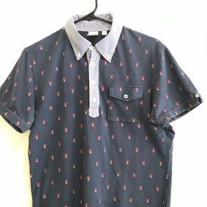 Uniqlo polo short sleeved shirt Plackard Collar